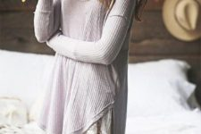 19 a crochet dress with a lace trim looks boho and feels relaxed