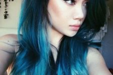 19 mesmerizing mermaid blue hair with an ombre effect