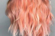 19 pink and blorange balayage looks colorful