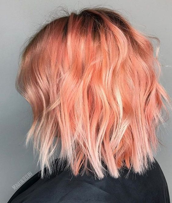 Picture Of Pink And Blorange Balayage Looks Colorful