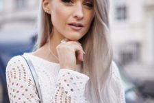 19 silver grey hair is very girlish and can look very soft