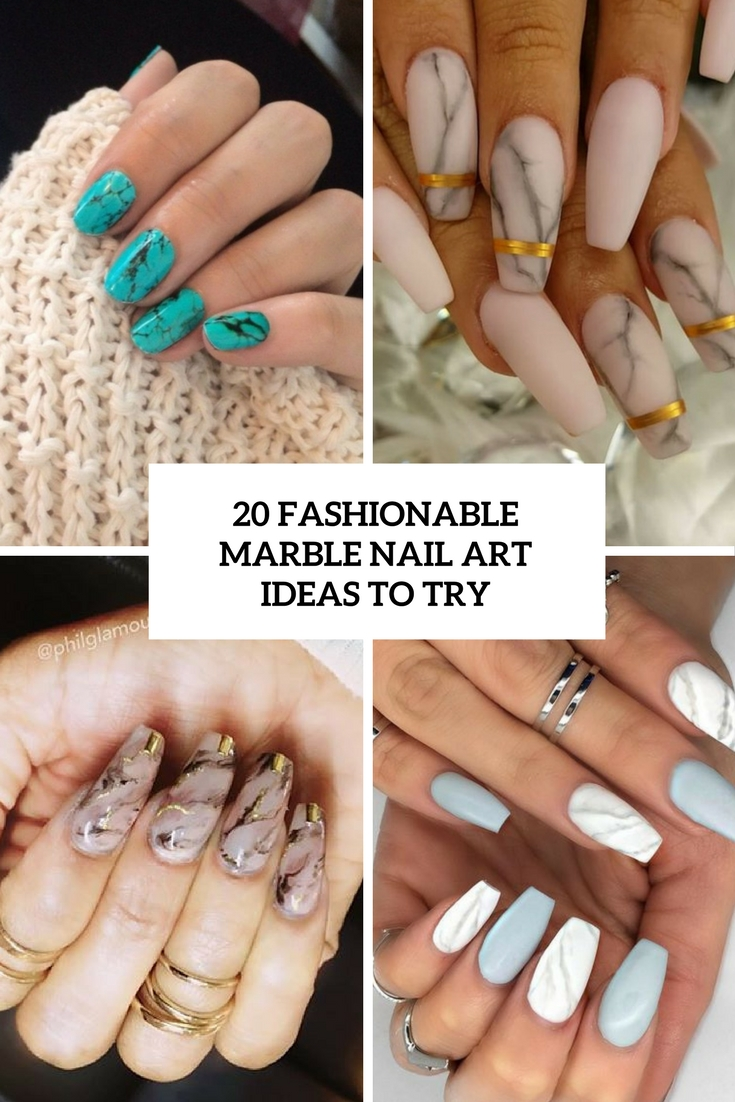 Nail Art Ideas edgy nail art : 20 Fashionable Marble Nail Art Ideas To Try - Styleoholic