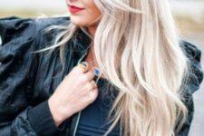 20 platinum and icy blonde hair balayage
