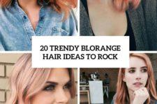 20 trendy blorange hair ideas to rock cover