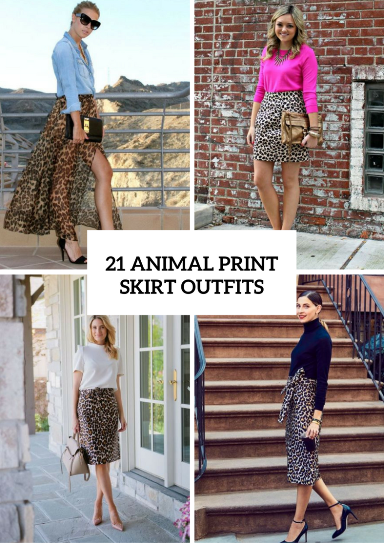 21 Animal Printed Skirt Outfits To Try