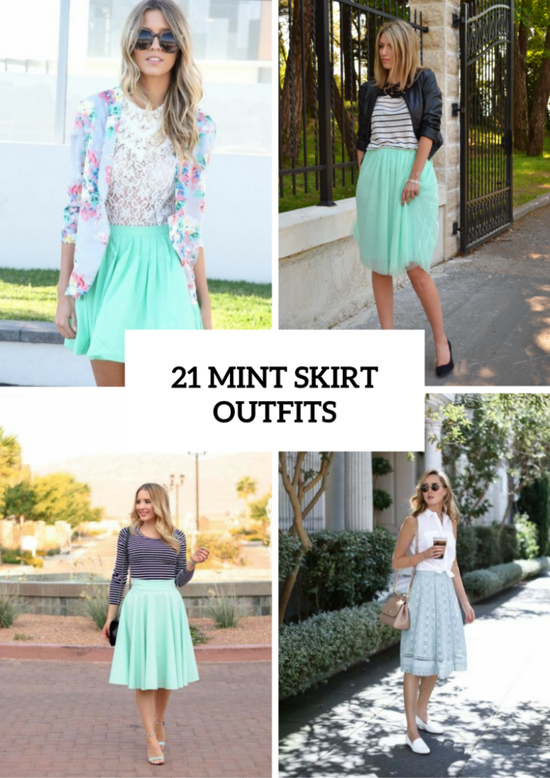 21 Cool Nail Art Ideas: 21 Cool Outfits With Mint Skirts