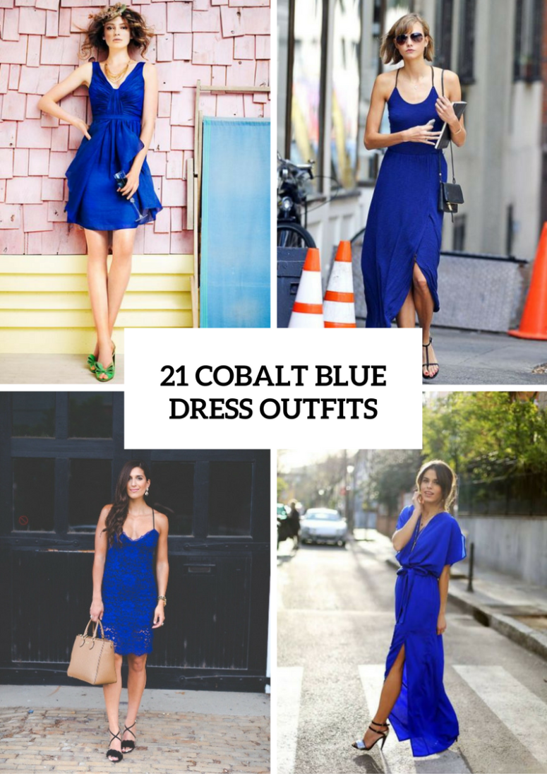 21 Gorgeous Cobalt Blue Dress Outfits