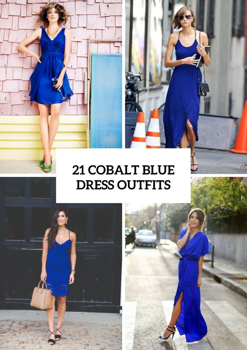 Gorgeous Cobalt Blue Dress Outfits