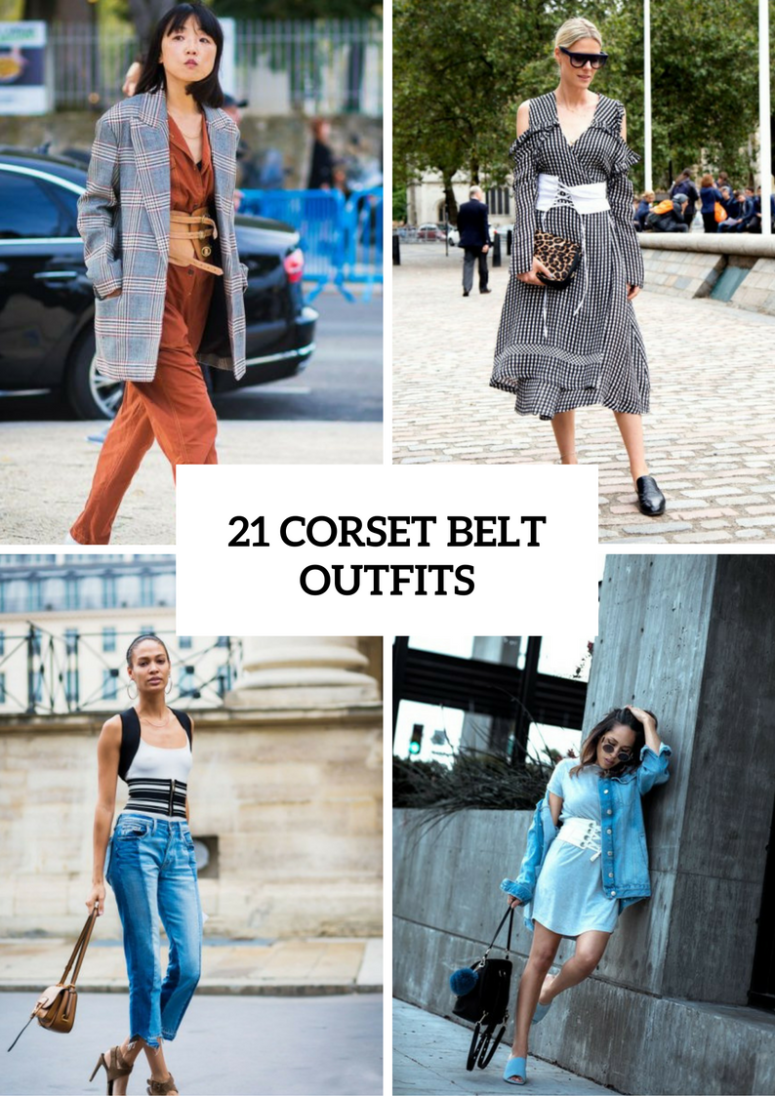Women Outfits With A Corset Belt