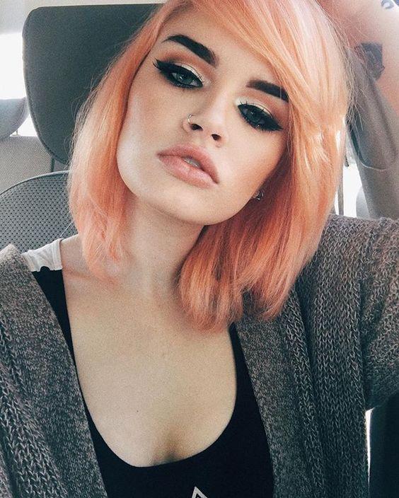 straight ombre blorange hair