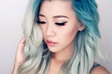 21 turquoise roots and white hair look incredible