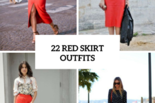 22 Excellent Outfits With Red Skirts