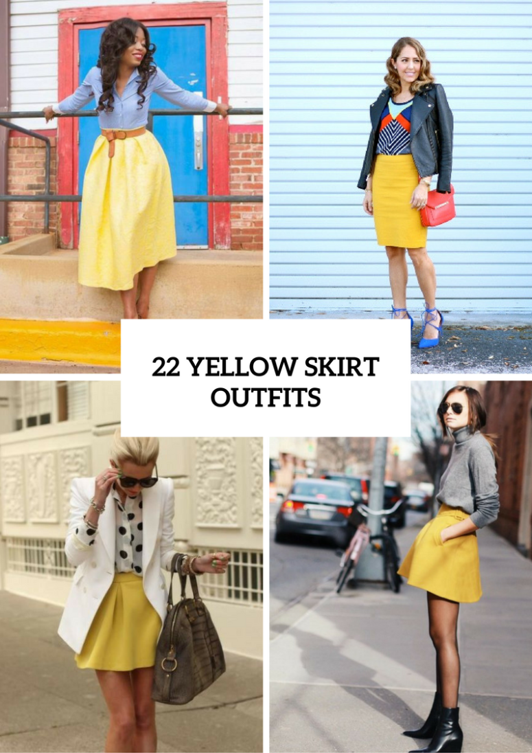 22 Excellent Outfits With Yellow Skirts Styleoholic