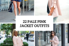 22 Gentle Outfits With Pale Pink Jackets