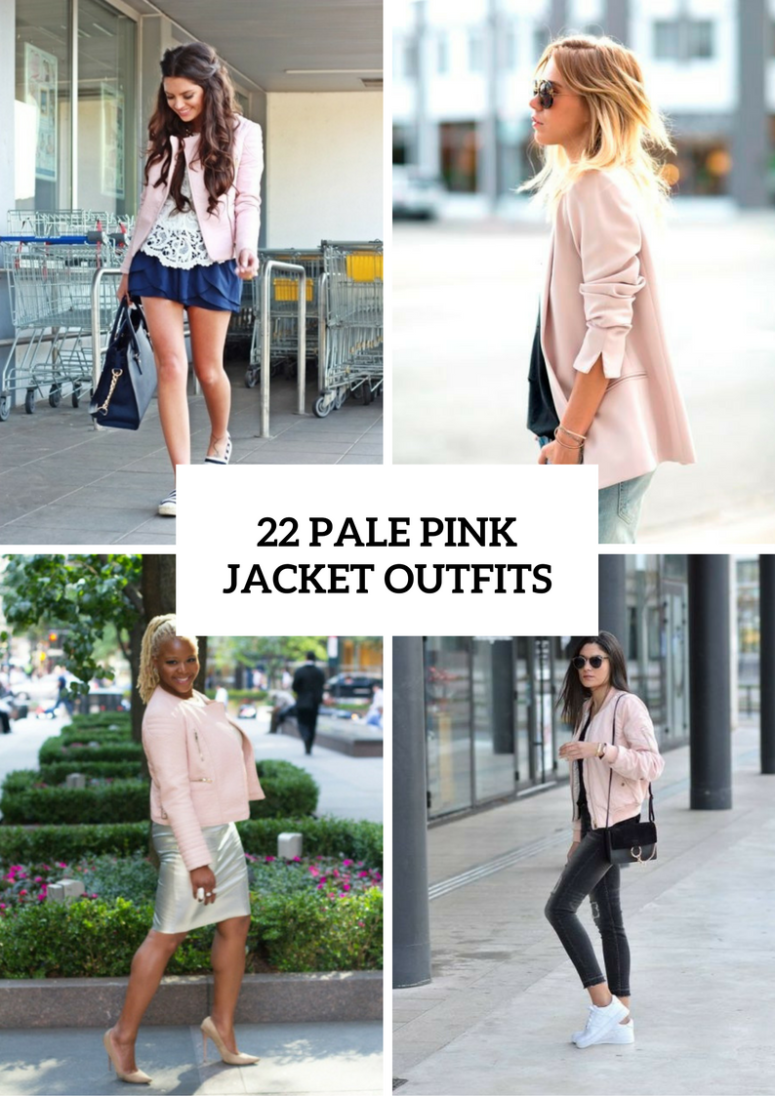22 Gentle Outfits With Pale Pink Jackets Styleoholic