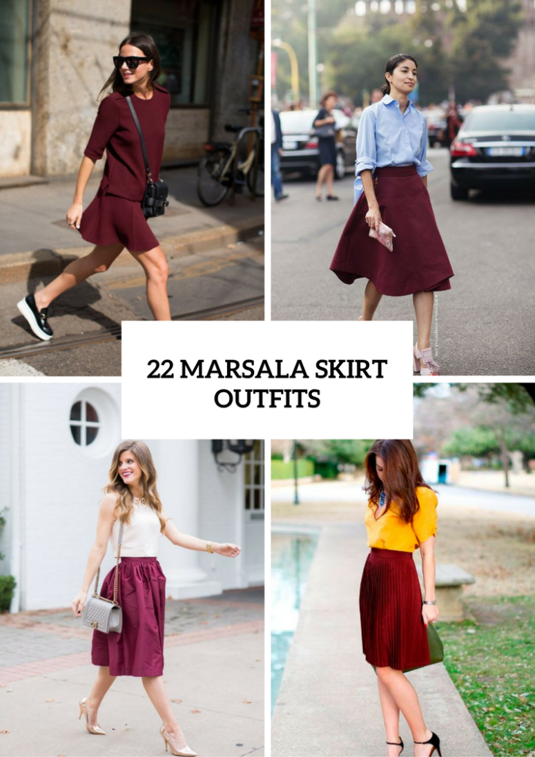22 Marsala Skirt Outfits For Stylish Ladies