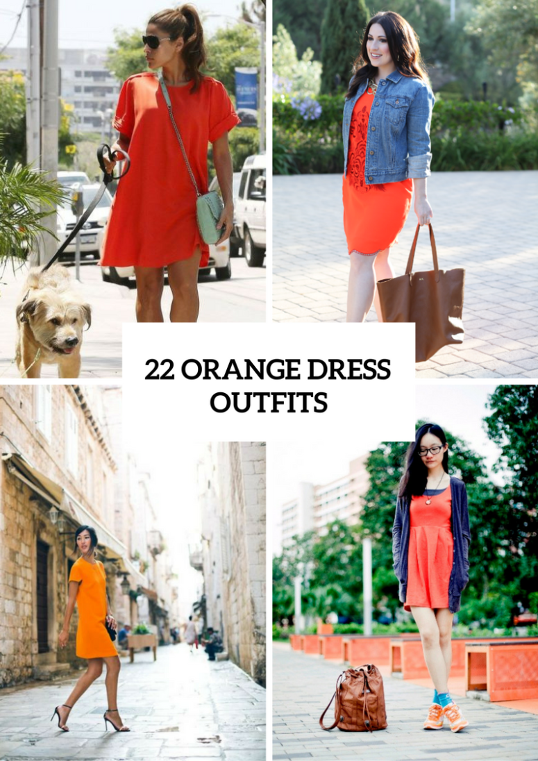 22 Orange Dress Outfits For Stylish Ladies