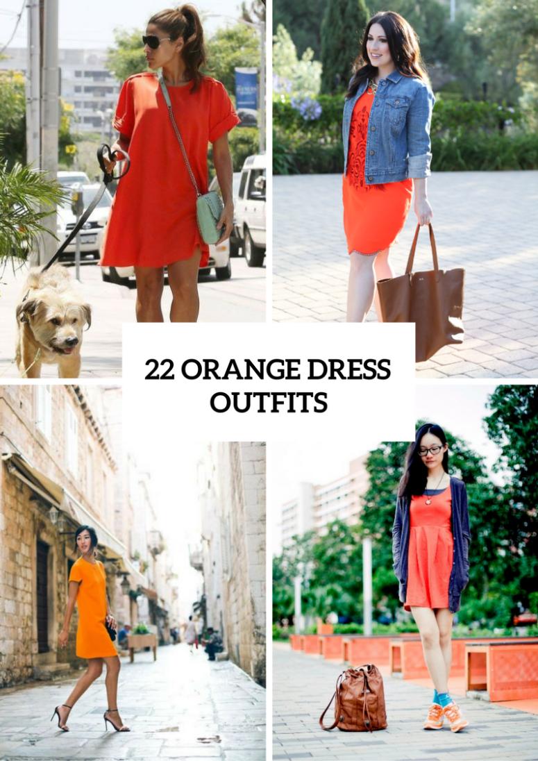 22 Orange Dress Outfits For Stylish Ladies