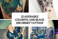 22 adorable colorful and black ink disney tattoos cover
