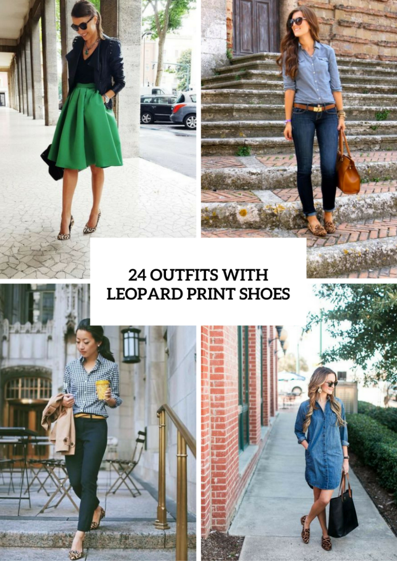 24 Adorable Outfits With Leopard Print Shoes