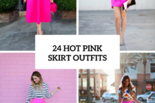 24 Flirty Outfits With Hot Pink Skirts