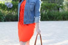 denim jacket spring outfit