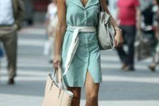 metallic flats outfit