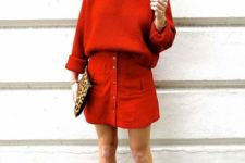 red spring office look