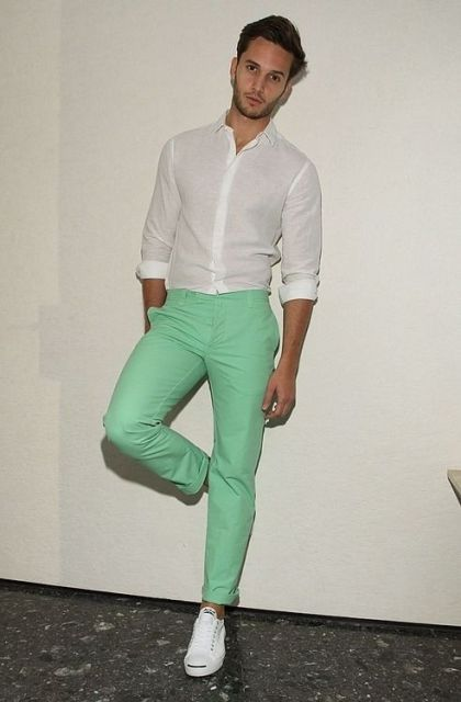 21 Awesome Mint Pants Outfits For Men Styleoholic