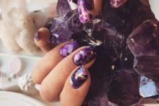amethyst gemstone nails