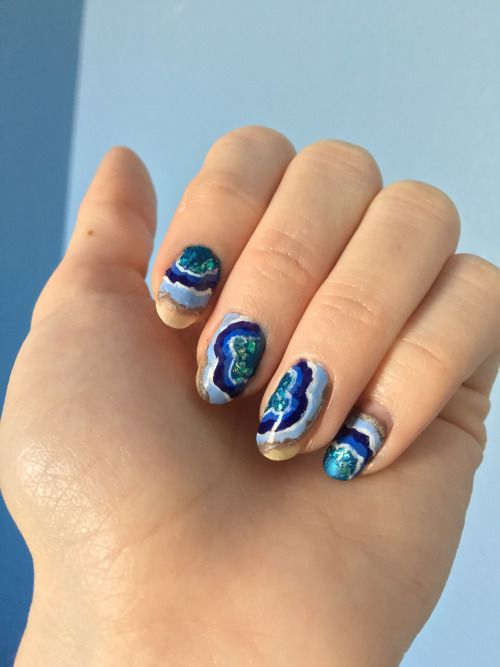 The Hottest 2017 Trend 15 Geode Nails Ideas Styleoholic