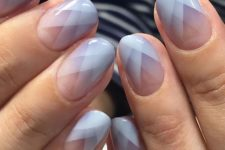 05 gradient geometric nails in pink, lavender and white