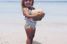 05 simple striped black and white bathing suit with straps