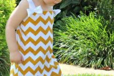 08 yellow and white chevron bathing suit cover up dress