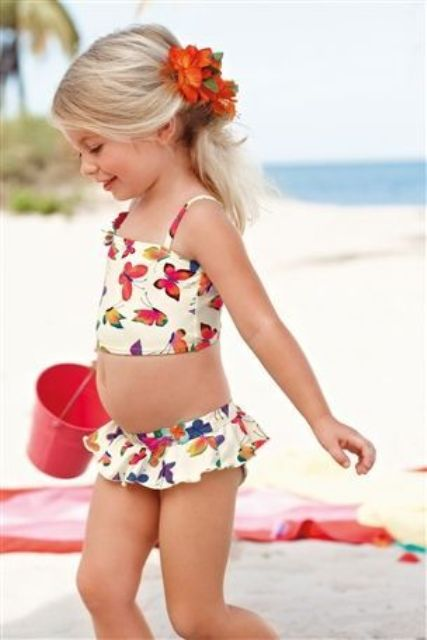 cute butterfly print bikini for a chic and bold look
