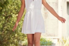 10 cute white dress with a collar looks preppy