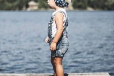 summer overall girl's outfit