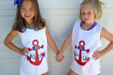12 anchor bow swim cover ups with names
