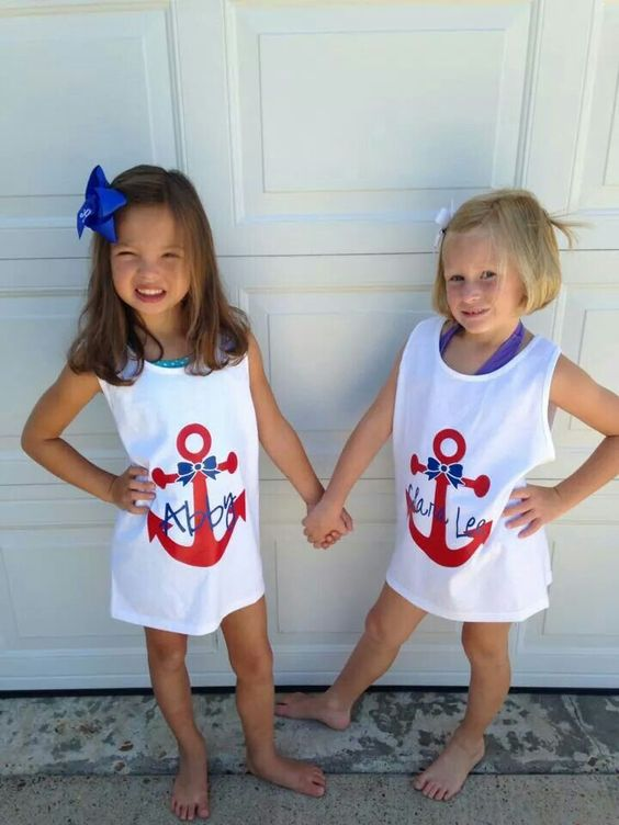 anchor bow swim cover ups with names