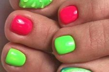 12 funny kiwi and watermelon nails and bold green and red ones