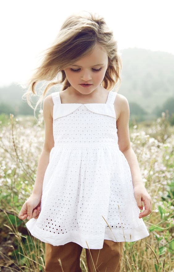 Choose frome a collection of little girls' dresses also made of high-quality materials that keeps your child comfortable for hours. A gorgeous little frock with a full skirt and satin sash is the ideal choice for a holiday or summer wedding.