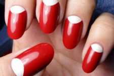 14 classic red manicure with white space