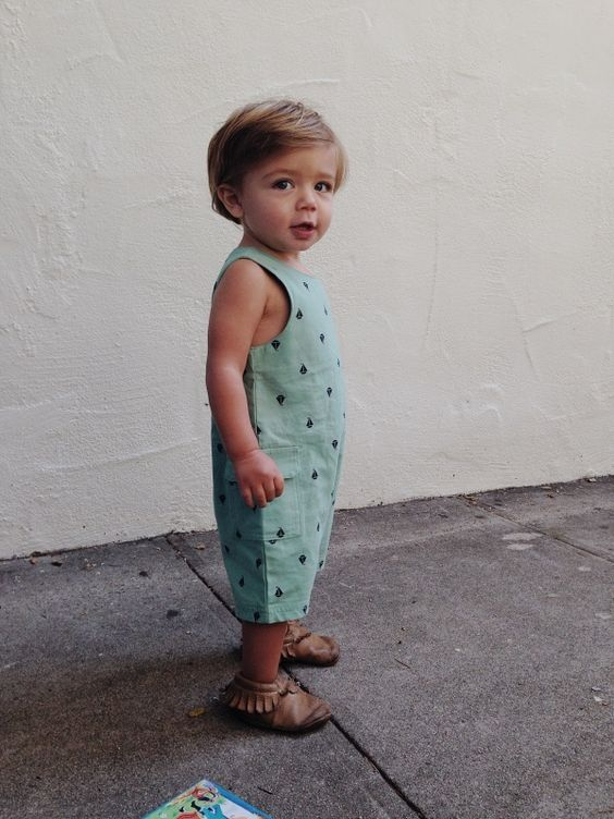 green printed romper without sleeves