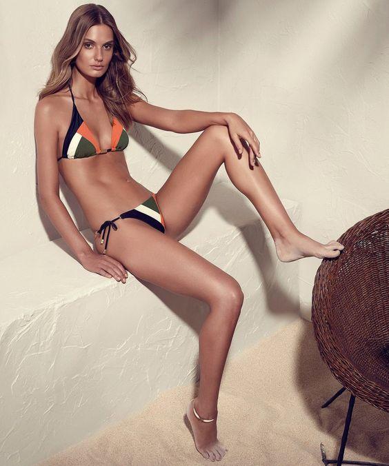 mix color geometric bikini