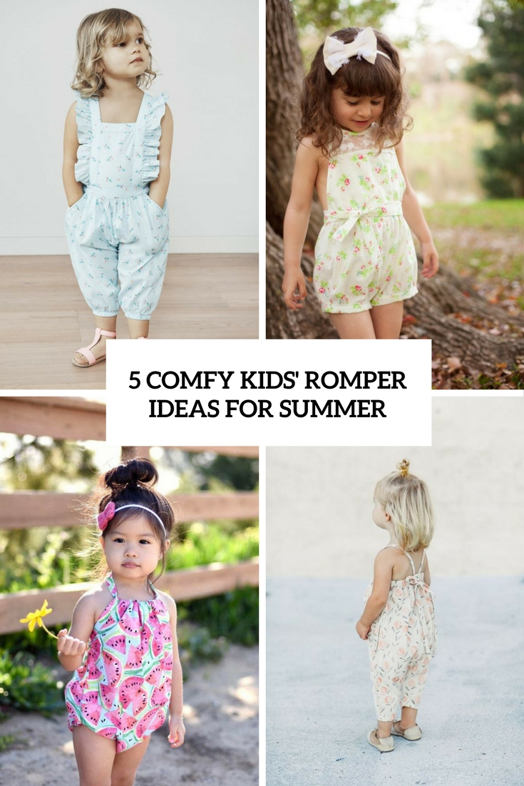 15 Comfy Kids' Romper Ideas For Summer