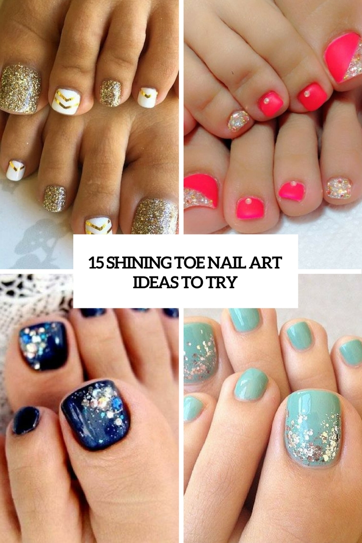 15 shining toe nail art ideas to try styleoholic 15 shining toe nail art ideas to try prinsesfo Images
