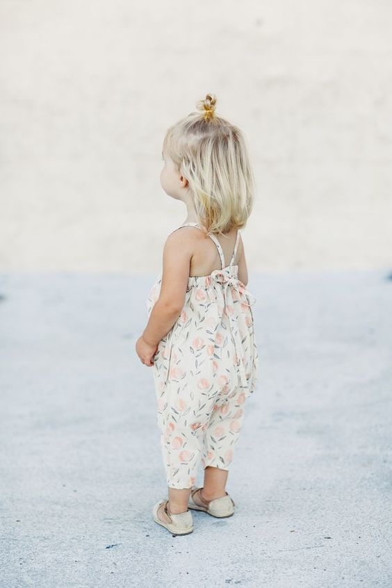 sweet pastel floral romper with spaghetti straps