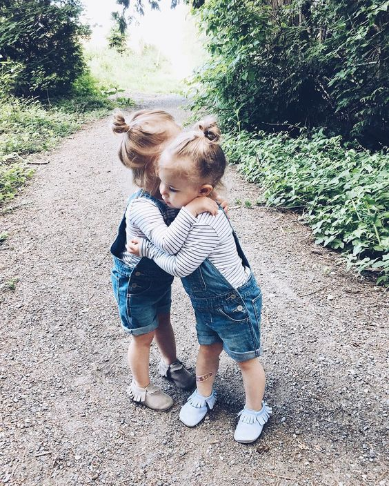 striped longsleeves and denim overalls with moccasins