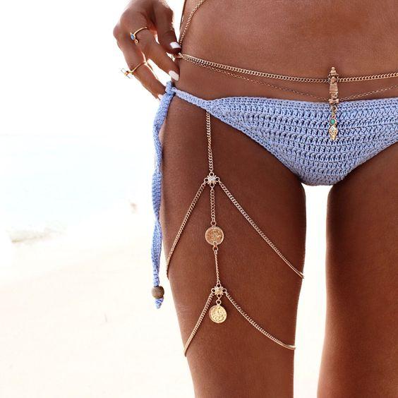 20 Boho And Gypsy Body Chain Jewelry Ideas