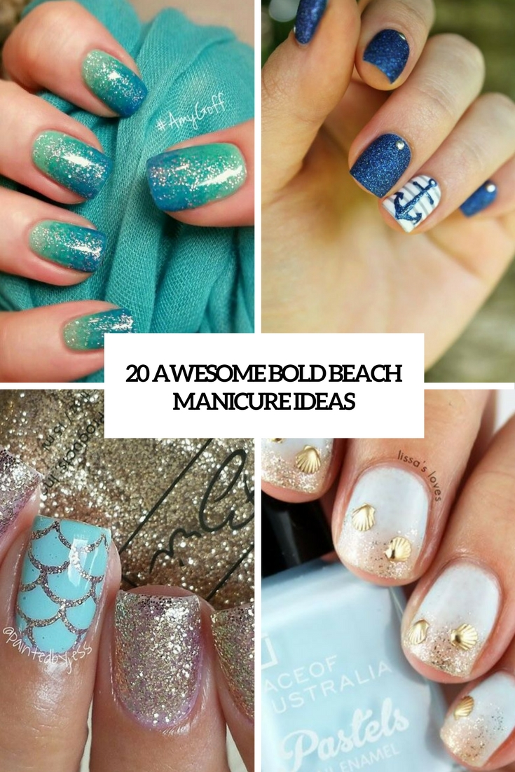 awesome bold beach manicure ideas cover